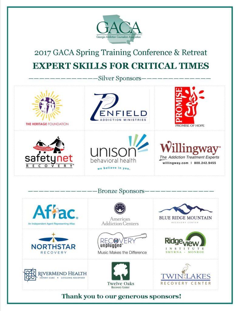 Sponsor Sign GACA Spring Conference