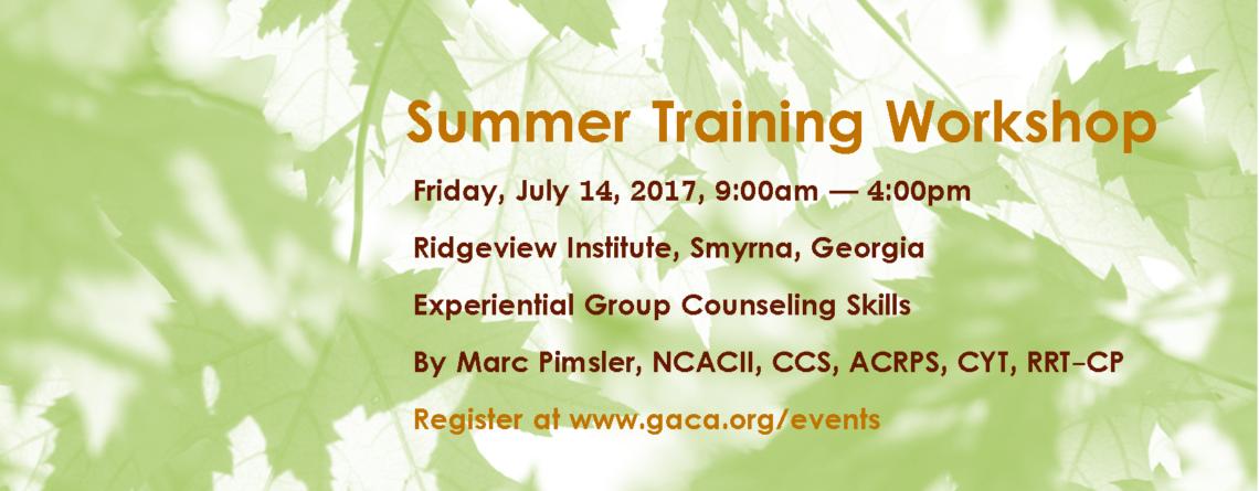 GACA Summer Workshop
